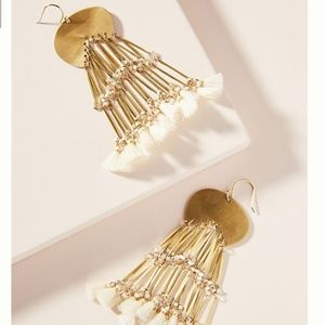NWT Anthropologie Valencia Fringed Drop Earrings